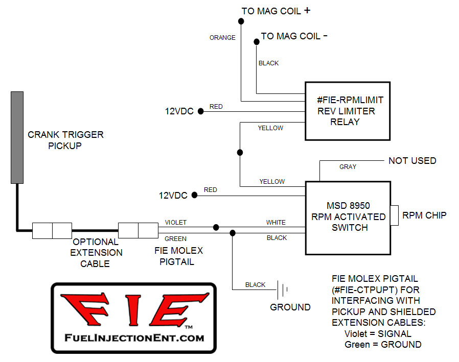rev limit relay & pigtail fuel injection enterprises, llc on AMC Tachometer Wiring for click image for larger version at RPM Activation Switch